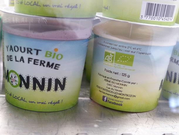 Produits laitiers yaourt producteur de la ferme  Atelier des Papilles Haute-Saône Montbozon Produits locaux