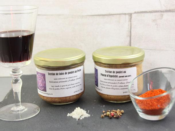 Terrine artisanale producteur de la ferme  Atelier des Papilles Haute-Saône Montbozon Produits locaux