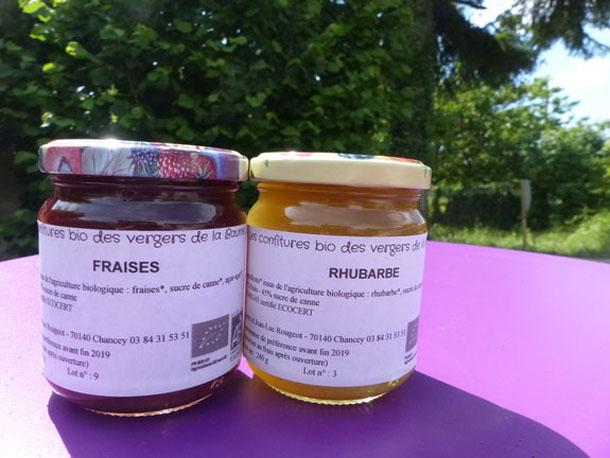 confitures bio producteur de la ferme  Atelier des Papilles Haute-Saône Montbozon Produits locaux